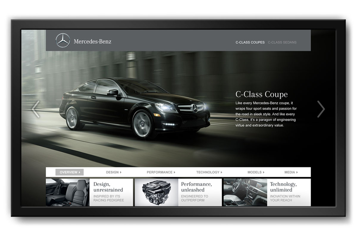 Showroom Touchscreen App